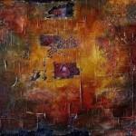 Abstraktní obraz praporu s okem