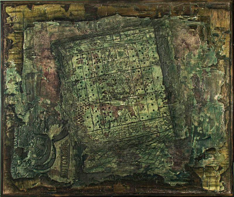 Abstraktní obraz domina v zeleném pozadí