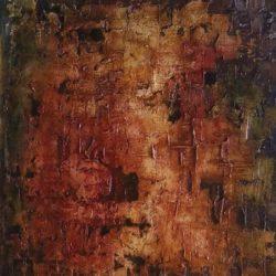 Abstraktní obraz sopečné erupce