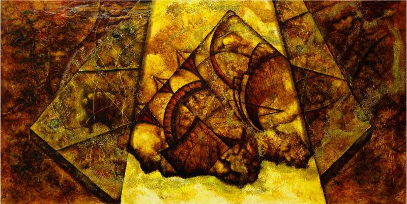 Abstraktní obraz Glóby