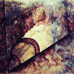 Mlhovina věčnosti v abstraktní obrazové kompozici