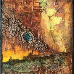 Abstraktní obraz jako Oko země