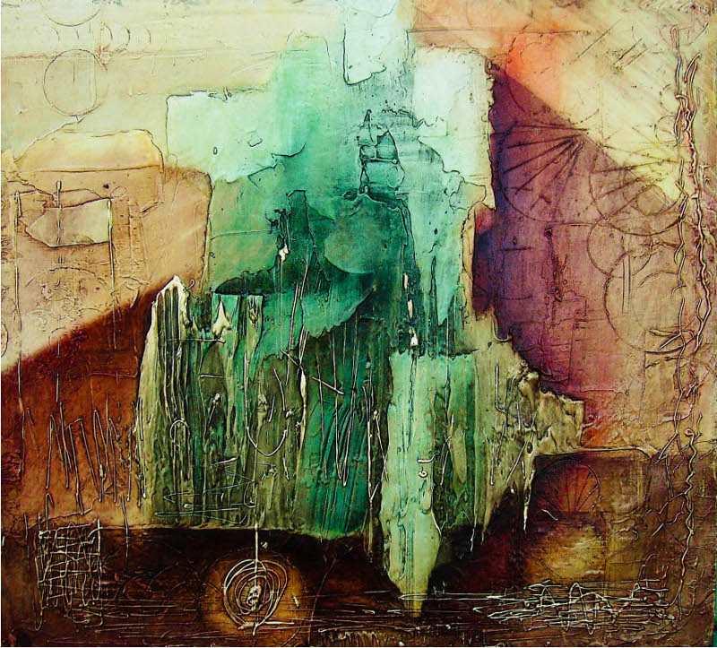 Abstraktní obraz safíru