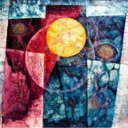Solaris - obraz slunce v abstraktní kompozici