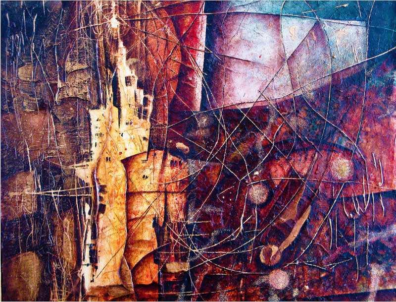 Věž mámení - záhadný abstraktní obraz věže