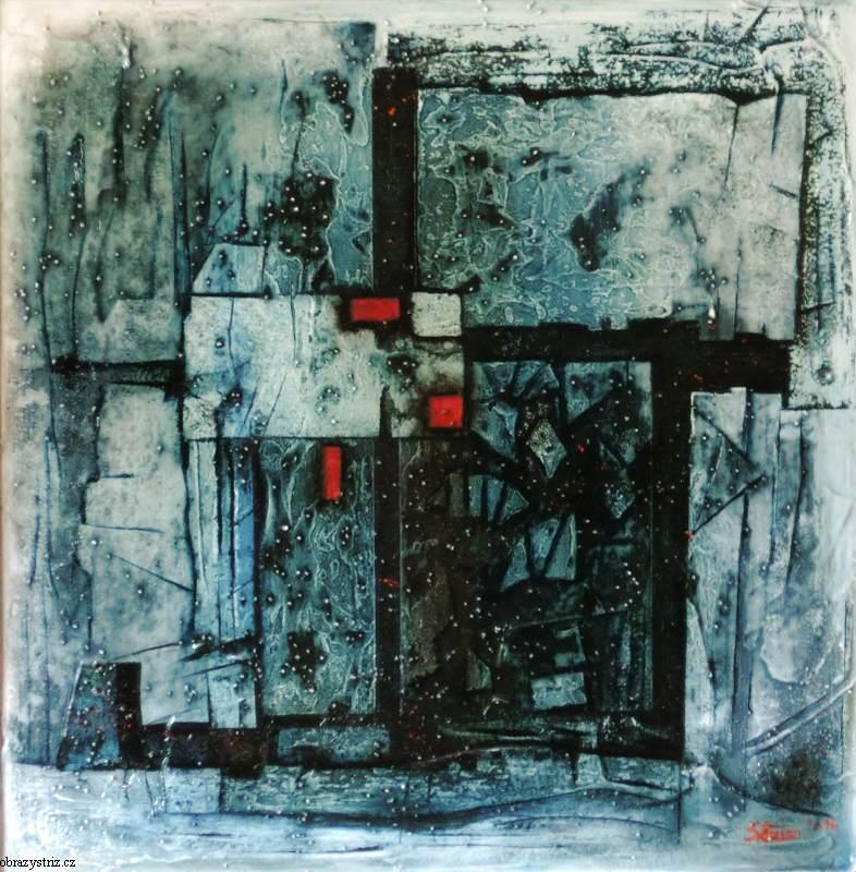 Obraz Blue Mirror 65x70 cm