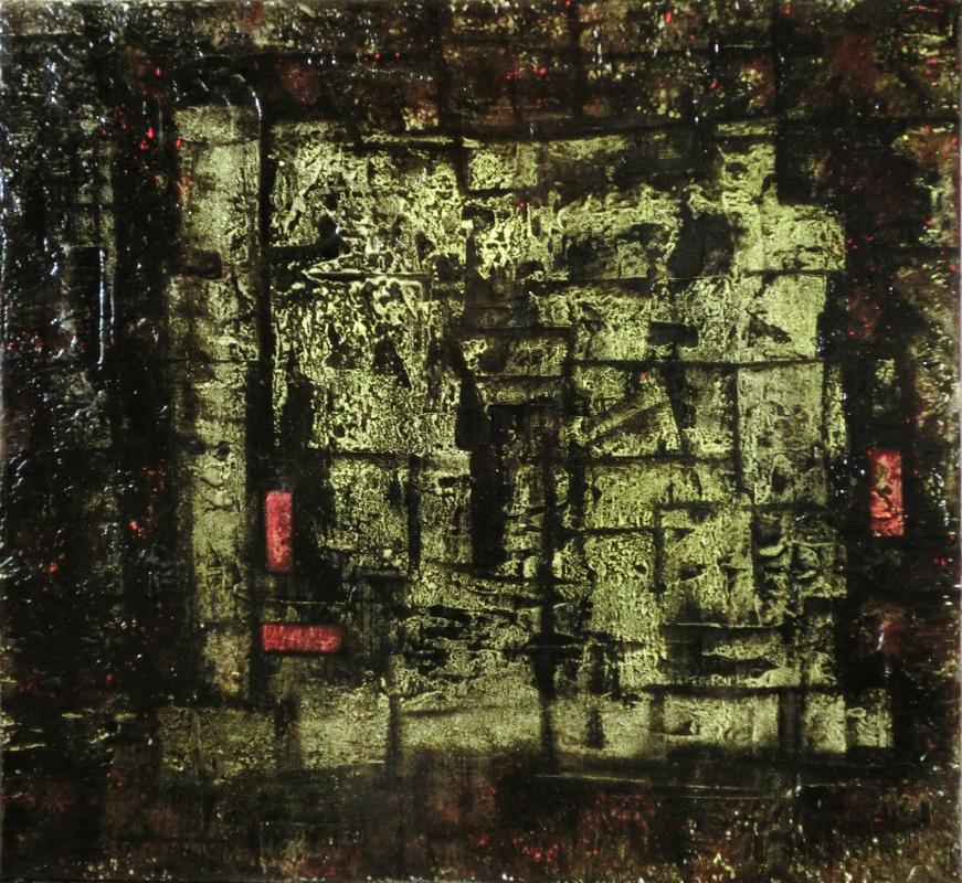 abstraktní obraz blata