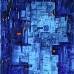 abstraktní obraz modrý