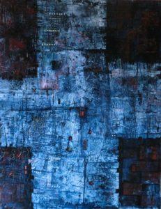 obraz modro kříž