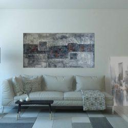 Abstrakce Silver Gray